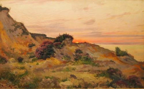 In the evening in Sainte-Marguerite sur Mer by Jean Jacques ROUSSEAU