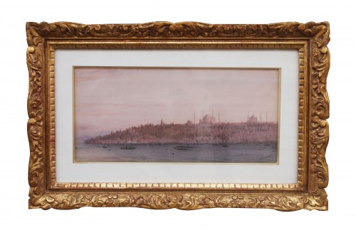 View of Istanbul 19th by Joseph FRICERO - Glass & Crystal Style