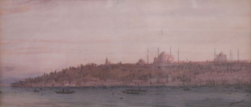 Glass & Crystal  - View of Istanbul 19th by Joseph FRICERO