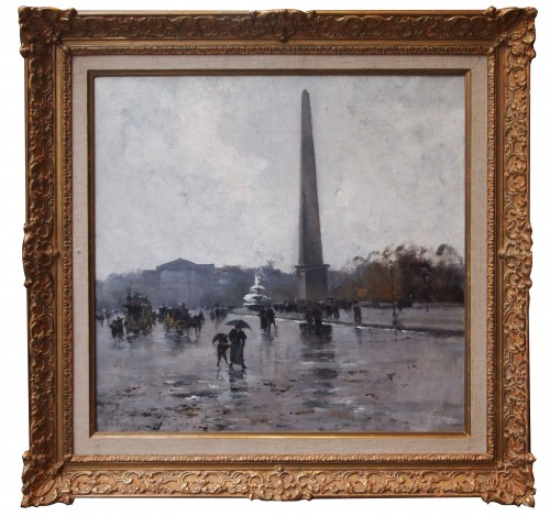 Place de la Concorde by GALIEN LALOUE, signed by his psedudonym, Liévin