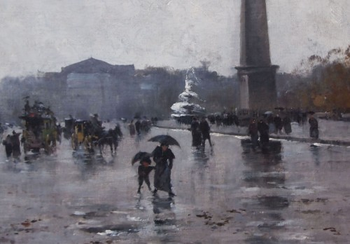 Paintings & Drawings  - Place de la Concorde by GALIEN LALOUE, signed by his psedudonym, Liévin
