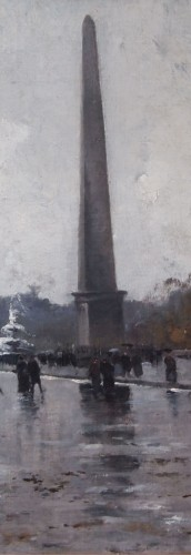 Place de la Concorde by GALIEN LALOUE, signed by his psedudonym, Liévin  -