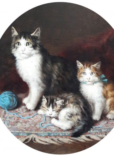 Cats - ules Gustave Le ROY (1851-1921) - Paintings & Drawings Style