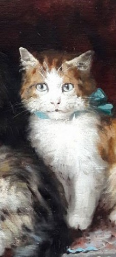 Paintings & Drawings  - Cats - ules Gustave Le ROY (1851-1921)