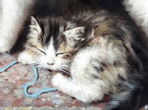 Cats - ules Gustave Le ROY (1851-1921) -