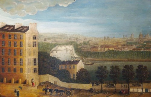 View of Paris, Directoire period - Paintings & Drawings Style