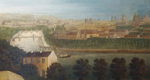 Paintings & Drawings  - View of Paris, Directoire period