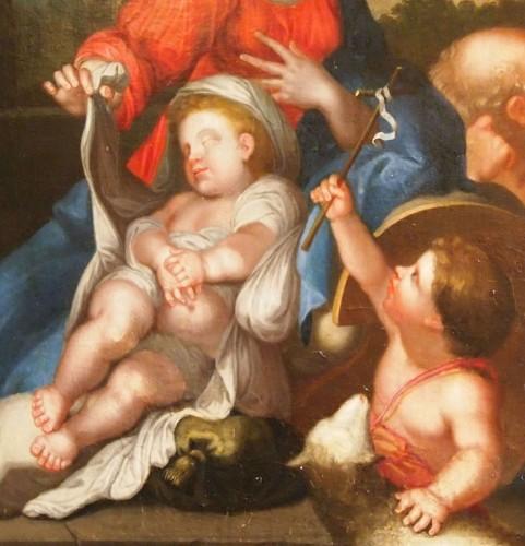 Holy family with Saint John the Baptist, , follower of Sebastien BOURDON   -