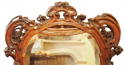 Beautiful Art Nouveau mirror  attributed to Guimard  - Mirrors, Trumeau Style Art nouveau
