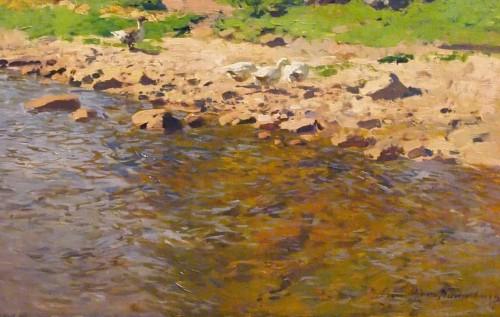 Paintings & Drawings  - The shepherd at the water's edge  - Otto GUNTHER-NAUMBURG (1856-1941)