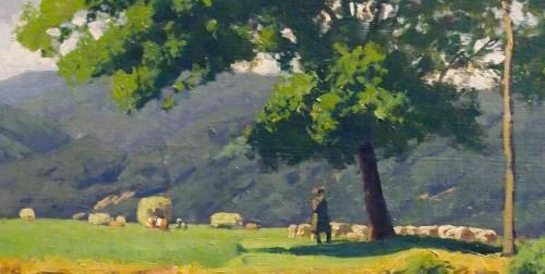 The shepherd at the water's edge  - Otto GUNTHER-NAUMBURG (1856-1941) -