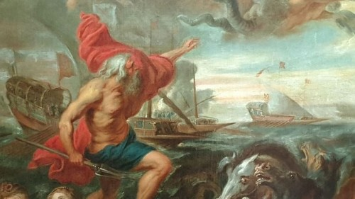 Paintings & Drawings  - Quos Ego Neptune calming the flots copy of a 17th century workshop d'après