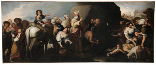 Moses softening the waters of Mara and Elim , early 18th century