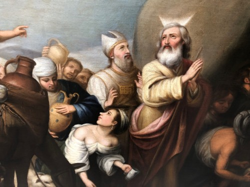 Paintings & Drawings  -  Moses softening the waters of Mara and Elim , early 18th century
