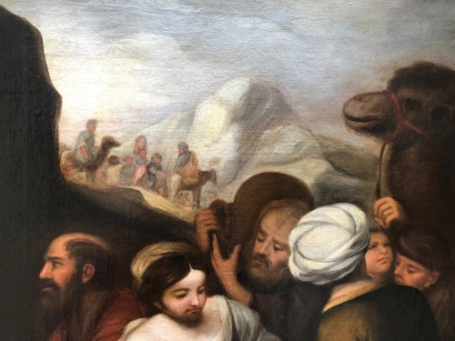 -  Moses softening the waters of Mara and Elim , early 18th century