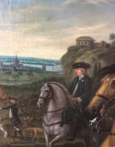 Man on the hunt, 18th century.  -