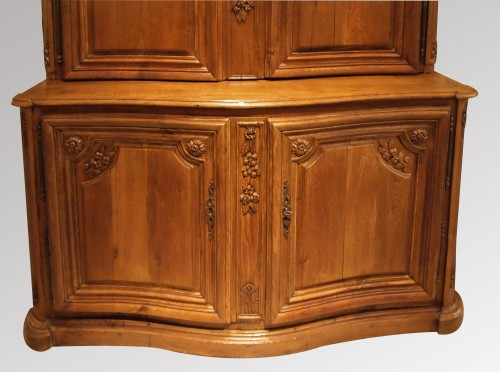 Furniture  - Oak Cupboard in two parts 18th century