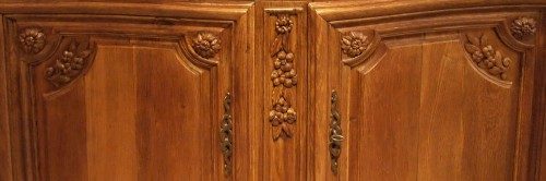 Oak Cupboard in two parts 18th century  -