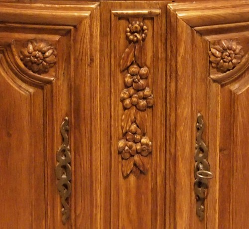 18th century - Oak Cupboard in two parts 18th century