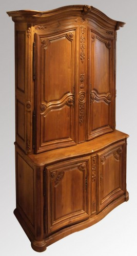Antiquités - Oak Cupboard in two parts 18th century