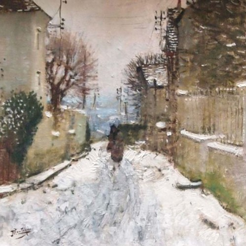 Winter landscape in Paris - Eugène MONTEZIN (1874-1946)