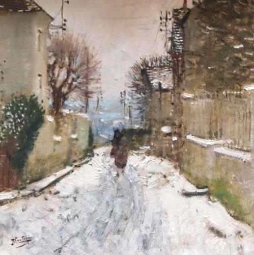 Winter landscape in Paris - Eugène MONTEZIN (1874-1946)