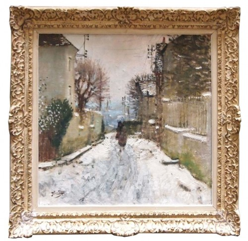 Winter landscape in Paris - Eugène MONTEZIN (1874-1946) - Paintings & Drawings Style