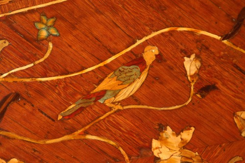 18th century - Scriban in floral marquetry, attributed to Nicolas Couleru