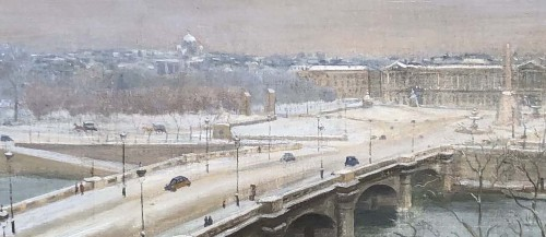 Paintings & Drawings  - Paris, Saint-Germain et la Concorde - Franck ELIM (act.c.1928-1943)