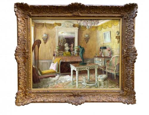 Interior of an apartment - Gaston HOFFMANN (1883-1977)