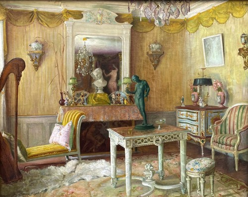 Interior of an apartment - Gaston HOFFMANN (1883-1977) - Paintings & Drawings Style