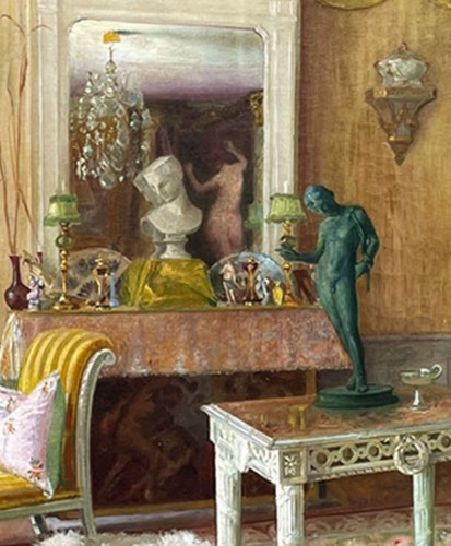 Paintings & Drawings  - Interior of an apartment - Gaston HOFFMANN (1883-1977)