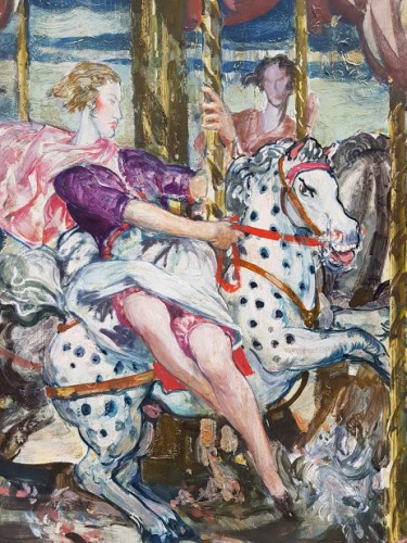 Women at the rides  - Gérald Edward MOIRA (1867-1959)