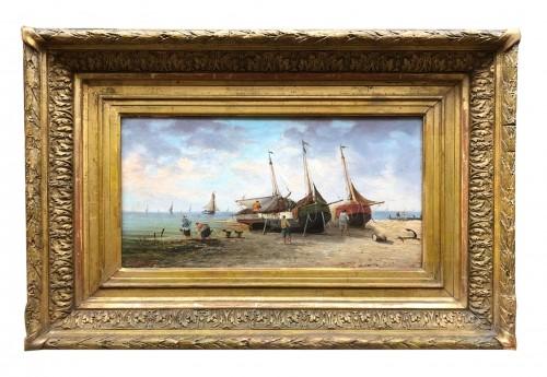 Seaside - Pierre-Julien GILBERT  (1783-1860) - Paintings & Drawings Style