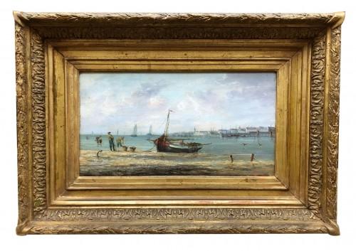 Paintings & Drawings  - Seaside - Pierre-Julien GILBERT  (1783-1860)
