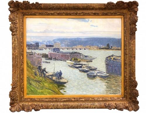 Boats in Sèvres - Ferdinand Lantoine (1876-1956)