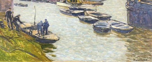 Boats in Sèvres - Ferdinand Lantoine (1876-1956) -