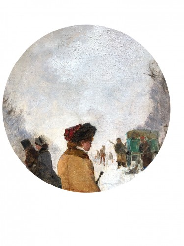 Paintings & Drawings  - Paris, under the snow - Etienne Maxime VALLEE (1853-1881)