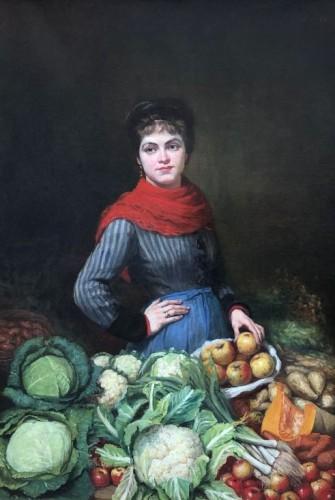 Vegetable woman seller