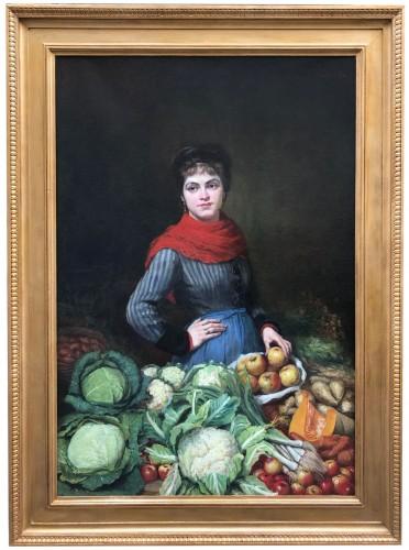 Vegetable woman seller - Paintings & Drawings Style