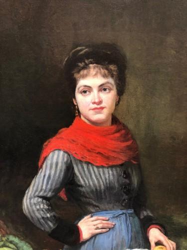 Paintings & Drawings  - Vegetable woman seller