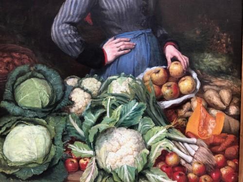 Vegetable woman seller -