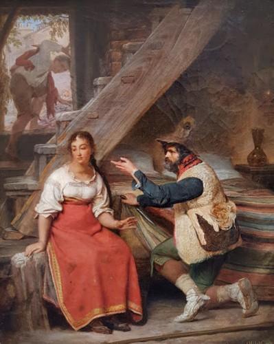 The visite - Sébastien Dulac (1802-1851)