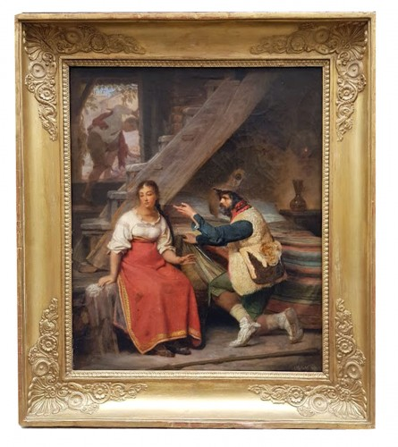 The visite - Sébastien Dulac (1802-1851)  - Paintings & Drawings Style