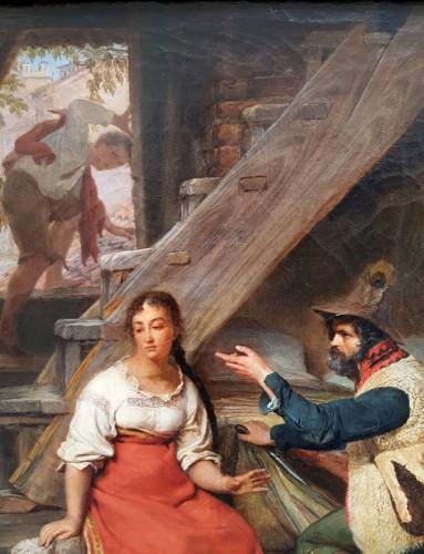 Paintings & Drawings  - The visite - Sébastien Dulac (1802-1851)