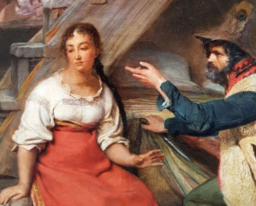 The visite - Sébastien Dulac (1802-1851)  -