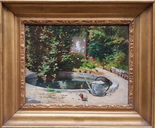 Garden  - Luis GRACIA PUEYO (1871-1961) - Paintings & Drawings Style