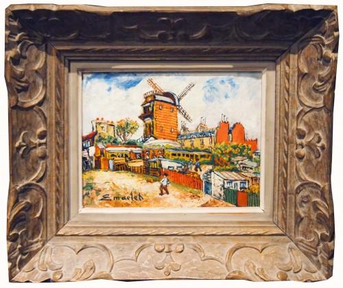 Montmarte - Elisé MACLET (1881-1962)  - Paintings & Drawings Style