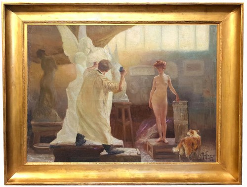 The workshop - Gaston HOFFMANN (1833-1977)