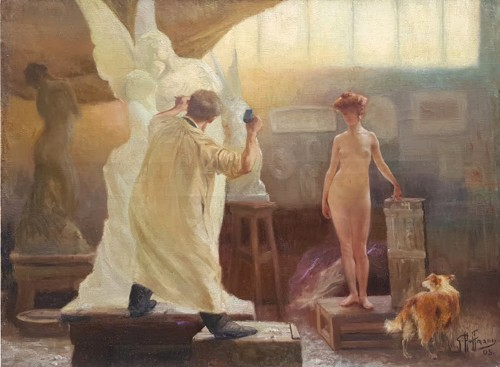 The workshop - Gaston HOFFMANN (1833-1977) - Paintings & Drawings Style